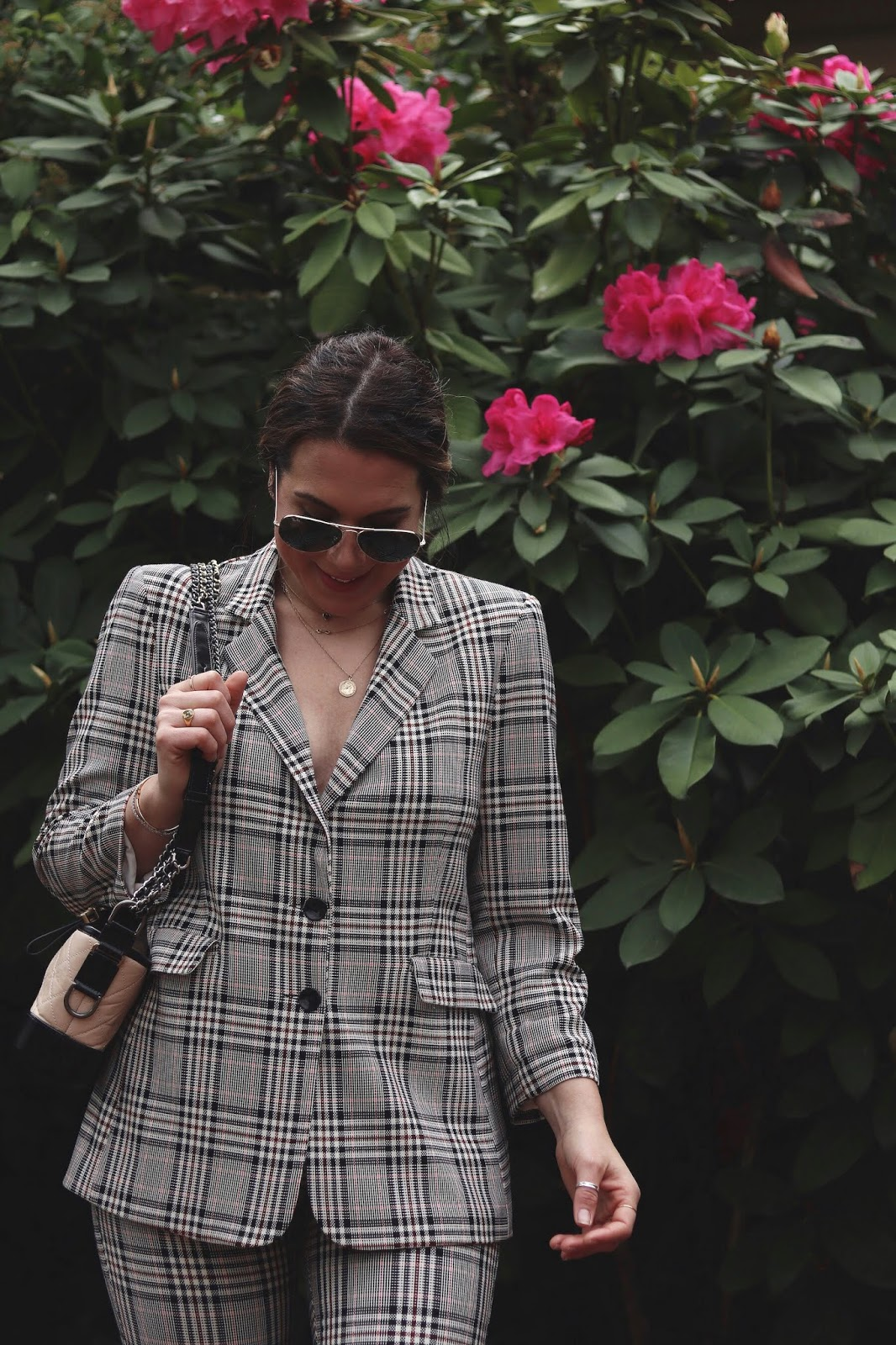 plaid suit outfit le chateau vancouver fashion blogger aleesha harris
