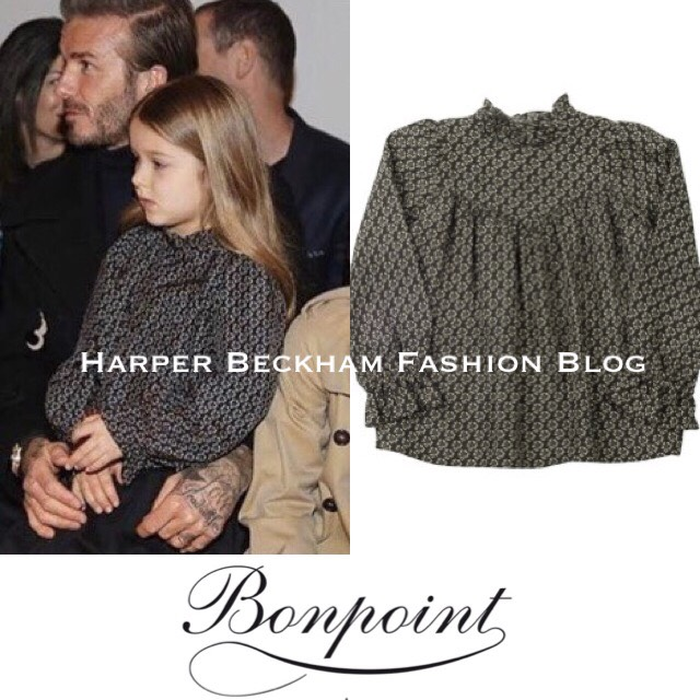 f80ef1698 Harper was wearing Daphne Blouse AW16 by Bonpoint, Navy Pleated Skirt FW16  by Gucci and Joshua Ankle Boots AW16 by Gucci.