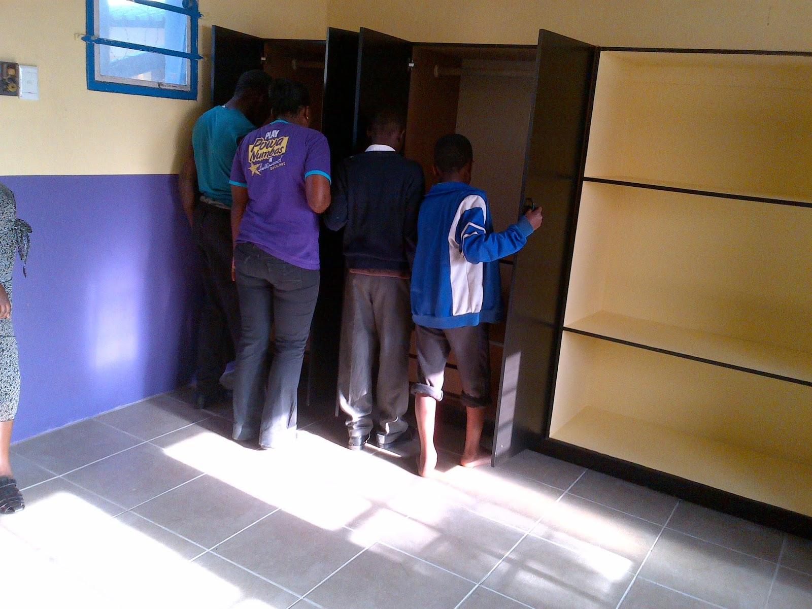 The new renovations at The Hollywoodbets Team at work at the Zamani Lakehaven Child and Youth Care Centre