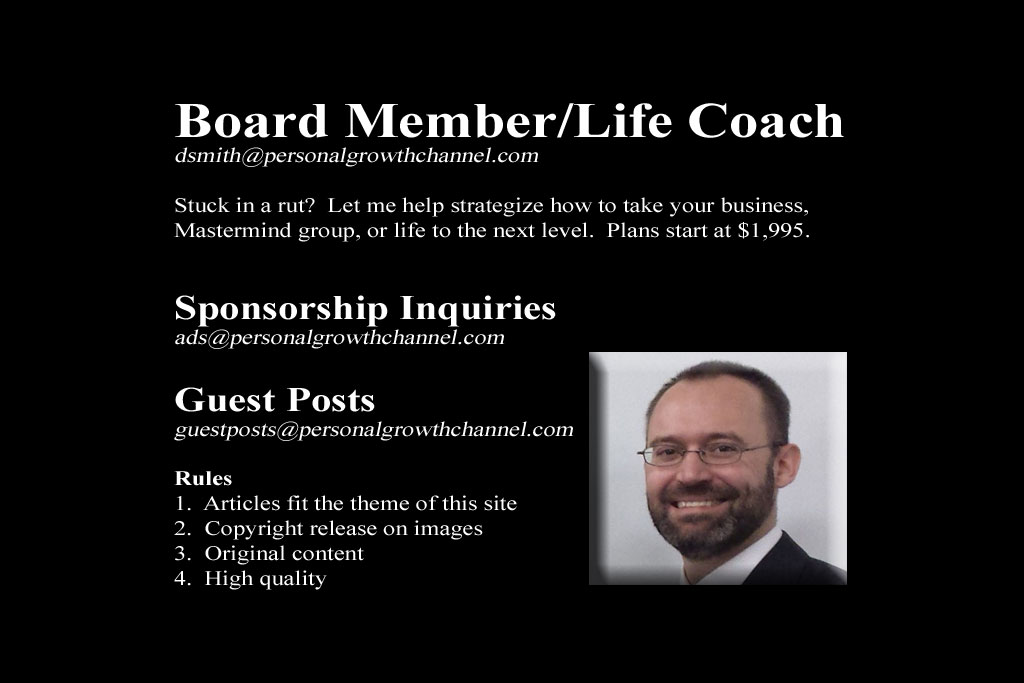 Contact information - board member, life coach, guest posts, and sponsorships.