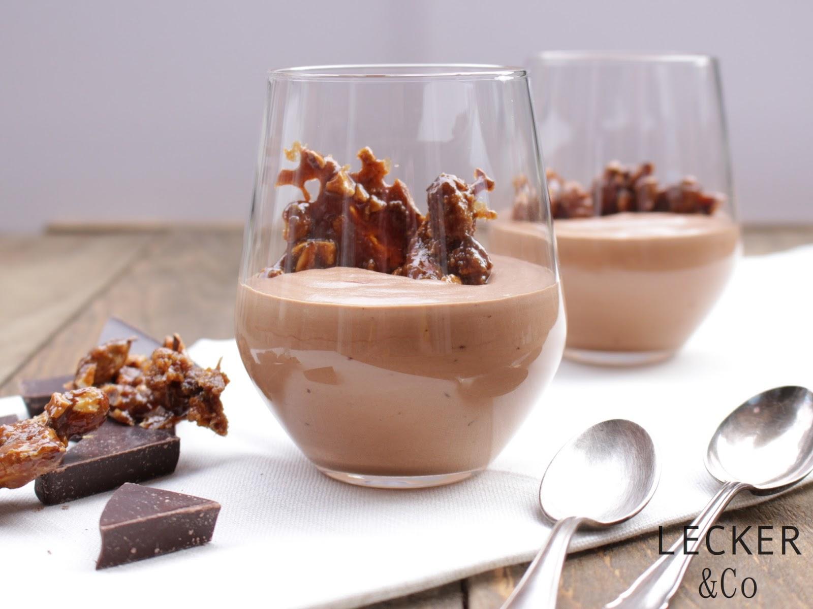 lecker co foodblog aus n rnberg mousse au chocolat mit balsamico und mandelkrokant mousse. Black Bedroom Furniture Sets. Home Design Ideas