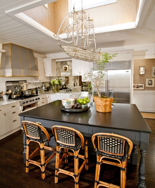 Coastal Kitchen Chandelier Lighting Idea