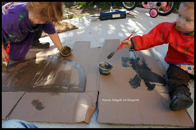 peinture chateau fort carton