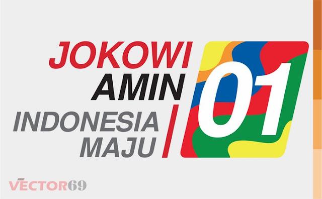 Logo Kampanye Jokowi-Amin Capres 01 Indonesia Maju - Download Vector File AI (Adobe Illustrator)