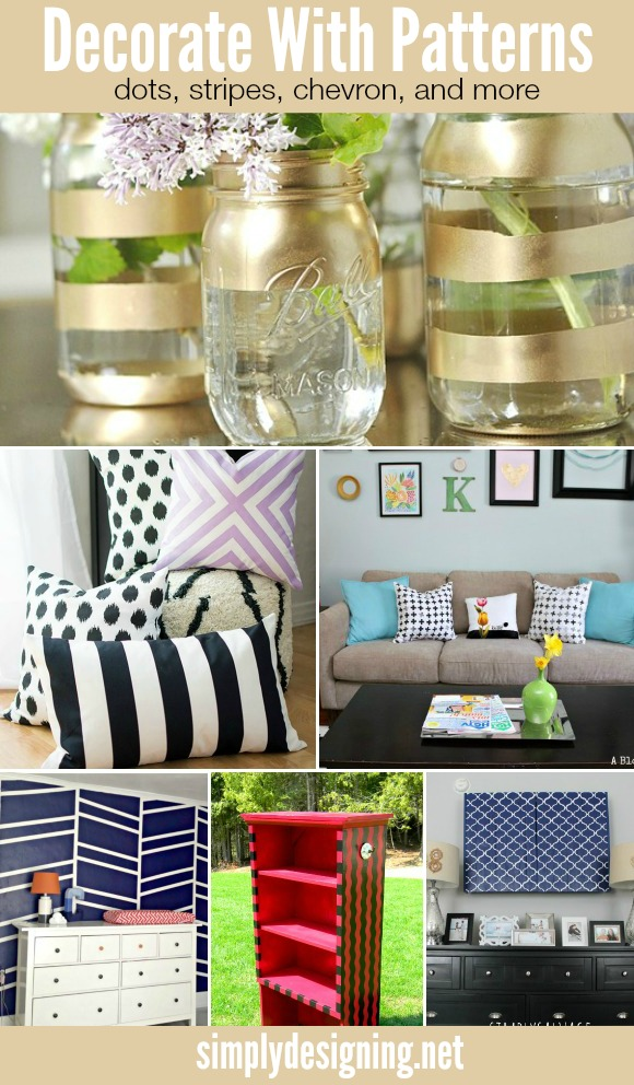 Ideas to Decorate with Pattern | such simple and cute DIY ideas even I could do!  Click to see them all | #diy #crafts #decorate #decorating #pattern