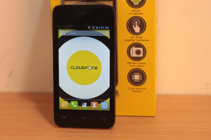 CloudFone Excite 402D Specs, Price and Availability