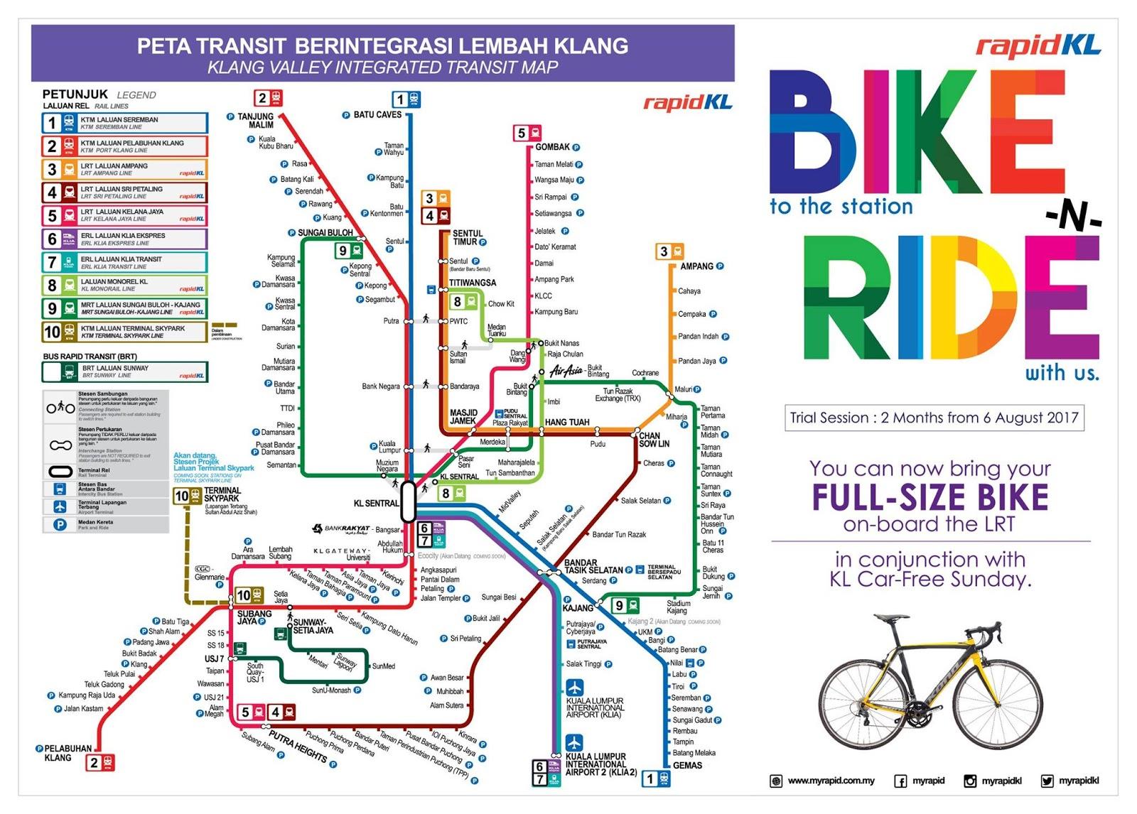 Rapid KL 50 OFF LRT MRT BRT Monorail Fares Price Until 31