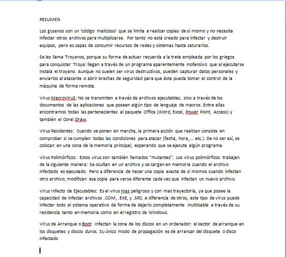Informatica Resume: Informatica: RESUMEN DE TIPOS DE VIRUS