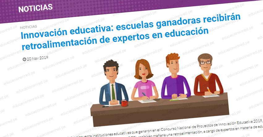 INNOVACIÓN EDUCATIVA: Escuelas ganadoras recibirán retroalimentación de expertos en educación - FONDEP - www.fondep.gob.pe