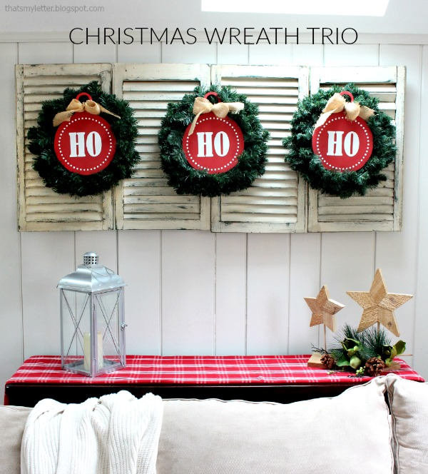 Home Decorators Vauxhall Nj: DIY Christmas Wreath Trio: Ho Ho Ho