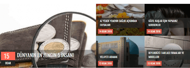 Blogger Esnek Slider Manşet Eklentisi