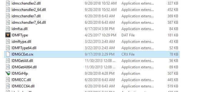 File IDMGCExt.crx folder