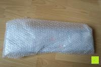 Luftpolster: Badablage mit Glasboden und verchromter Reling 50 x 14 cm