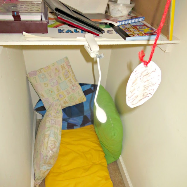 "Child-led ""creativity nook"" in the closet"
