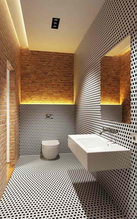 Arredamento e dintorni idee per bagno - Piastrelle nere per bagno ...