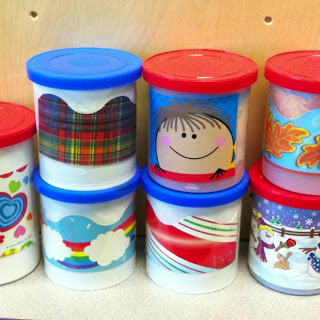 Store borders in icing containers.