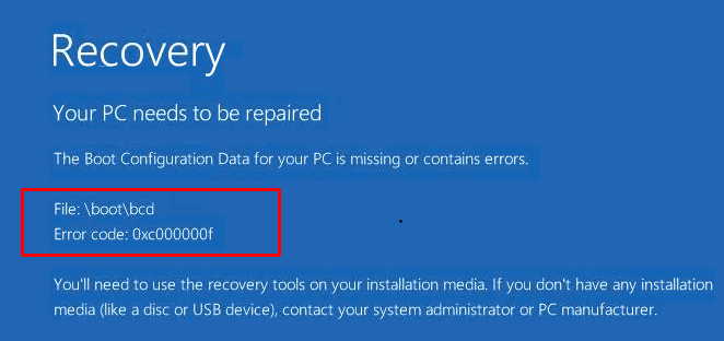 Methods to Fix Error Code 0xc00000f in Windows 10