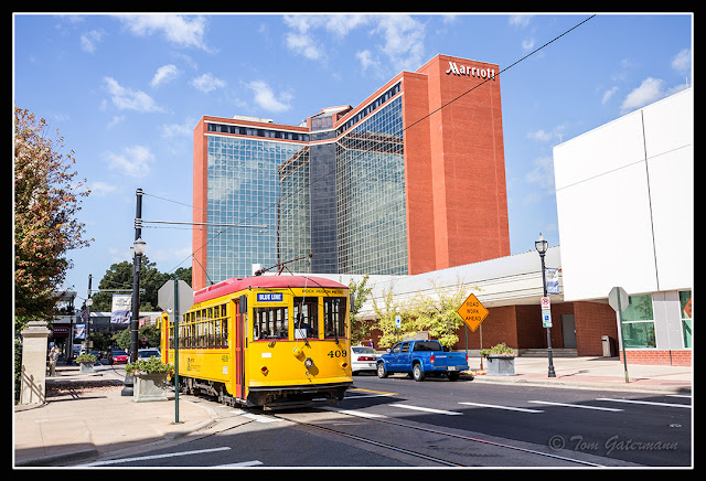 Metro Streetcar 409 Passing the Little Rock Convention Center