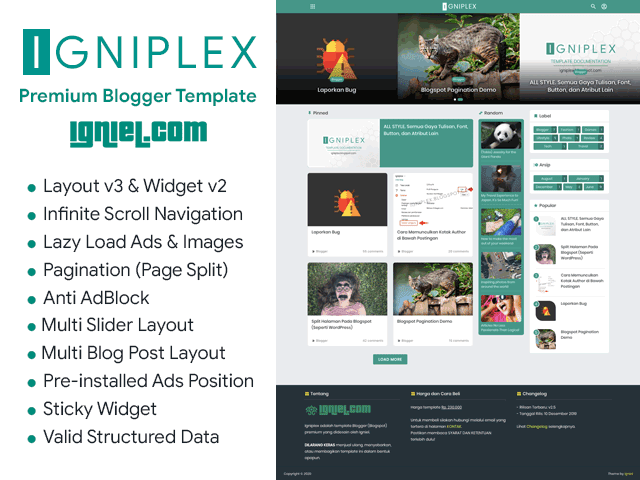 Download Igniplex Premium Blogger Theme