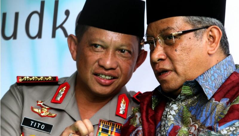 Kapolri Jenderal Tito Karnavian dan Ketua Umum PBNU Said Aqil
