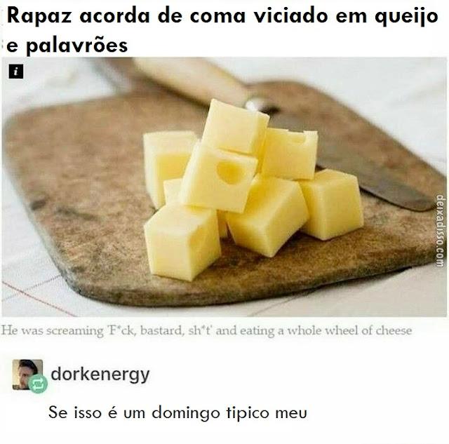 Rapaz acorda de coma viciado em queijo e palavrões