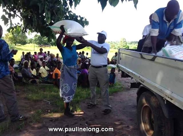 Pauline Long give to Malawi