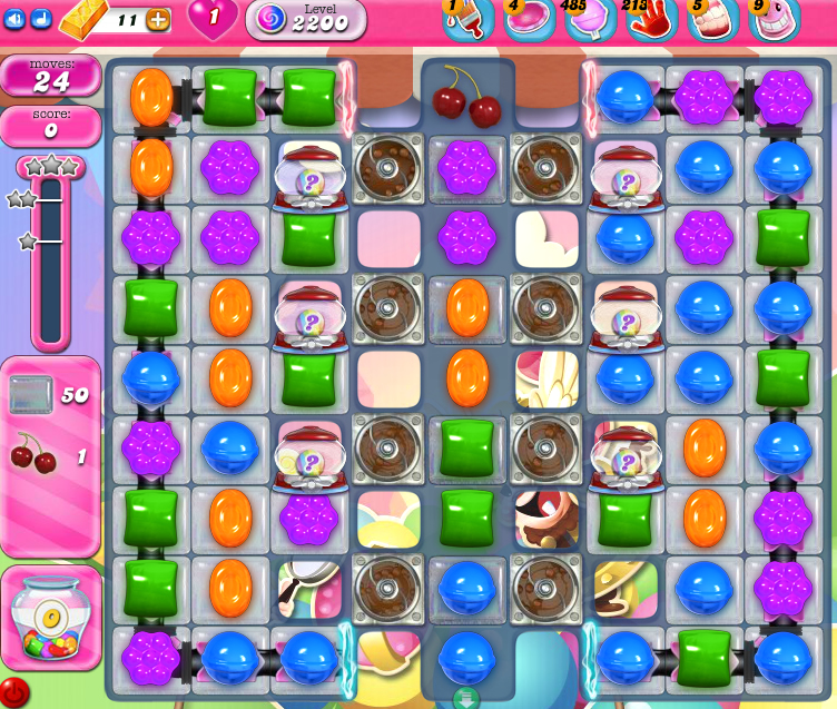 Candy Crush Saga level 2200