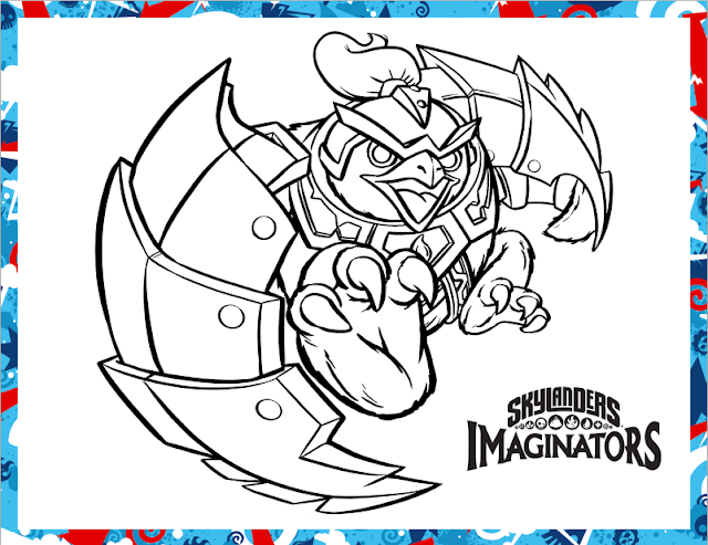 coloring printable king pen skylanders