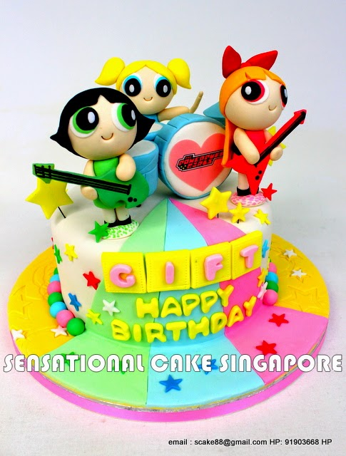 The Sensational Cakes Power Puff Girls Band Theme 3d
