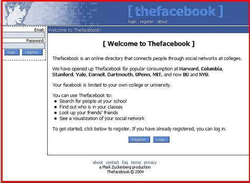 Facebook Login Welcome Home Page Full Site