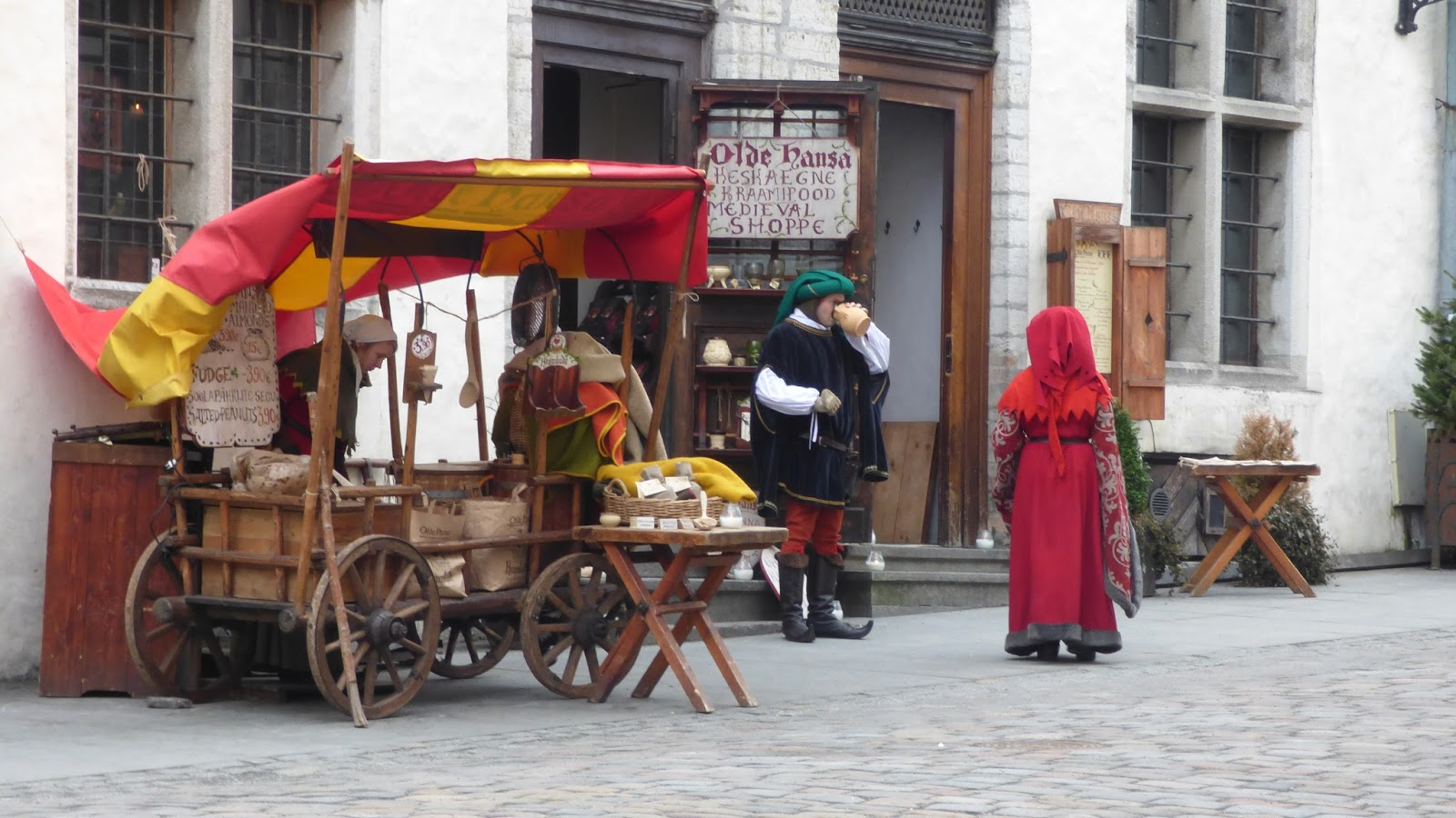The medieval Old Town centre of Tallinn, Estonia
