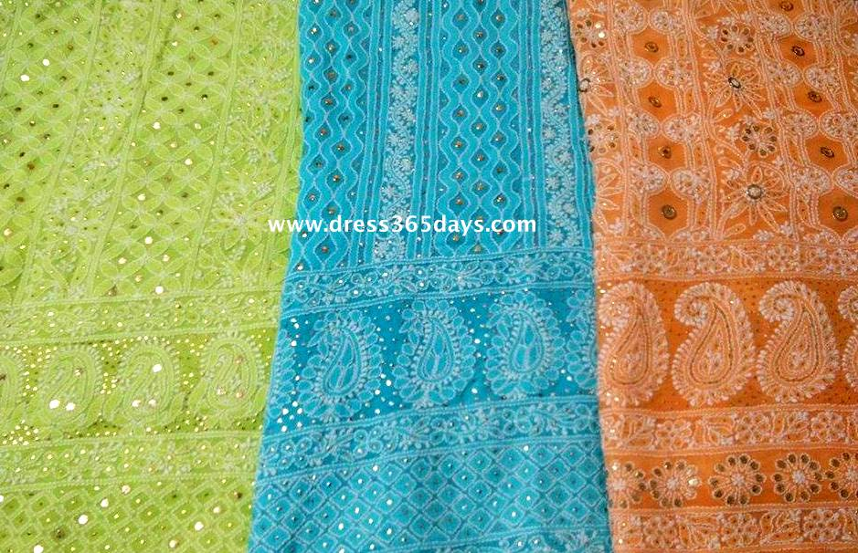 Lucknow Chikan Wholesale And Retail Unstitched Lucknowi