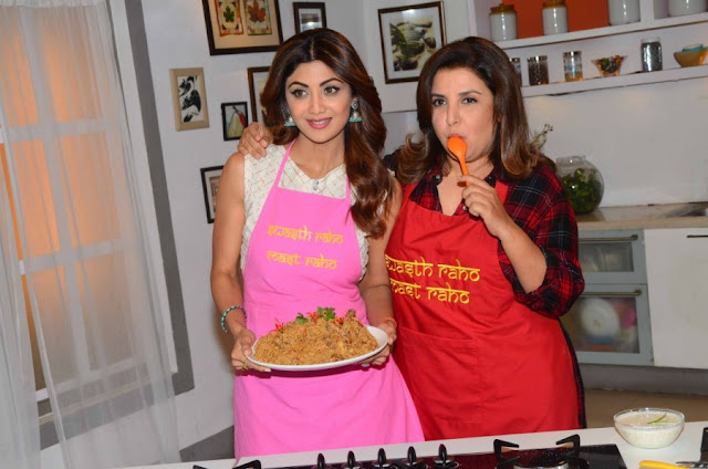 Shilpa Shetty and Farah Khan Shoot Special Eid Episode for Wellness Channel
