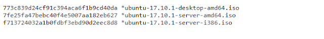 Ubuntu Hashes codes