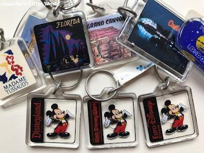 Plastic Disney keyrings