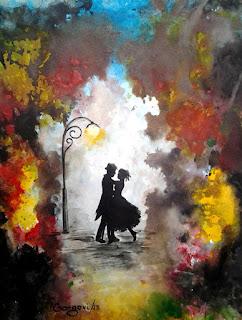 laki-laki dan perempuan sedang berdansah