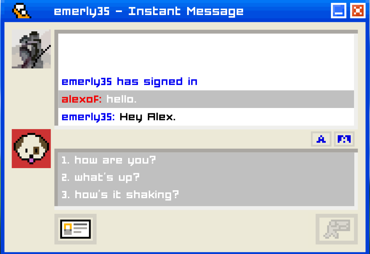 medium resolution of chat ebuddy emily is away