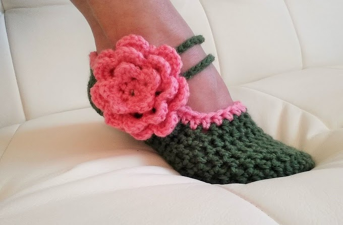 Crochet converse slippers Free Pattern.