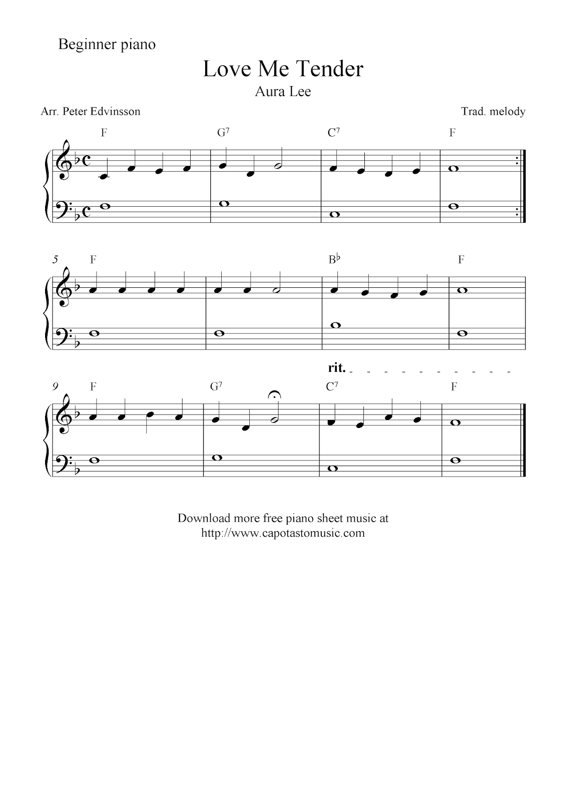 picture about Piano Sheet Music for Beginners Popular Songs Free Printable named Cost-free simple piano sheet songs for newcomers, Enjoy Me Soft