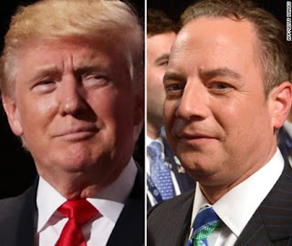 President-elect Donald Trump and Reince Preibus, Trump's choice to be his Chief of Staff