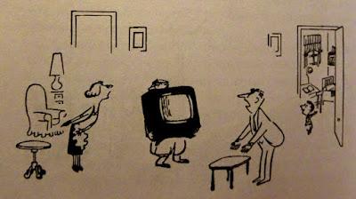 Ο μικρός Νικόλας και η καινούργια τηλεόραση, σκίτσο του Ζαν Ζακ Σαμπέ