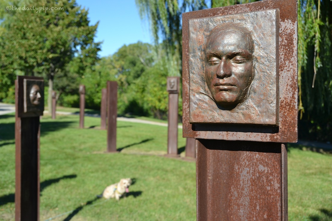 The Skokie Northshore Sculpture Park's LA SOUTERRAINE by Robert Smart