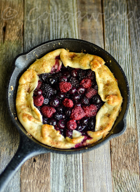 Mixed Berry Galette in my 8 inch Cast Iron Skillet - Cocoawind