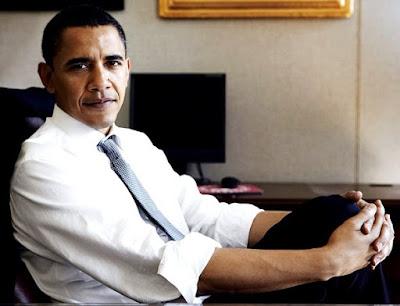 Foto de Barack Obama posando para las cámaras