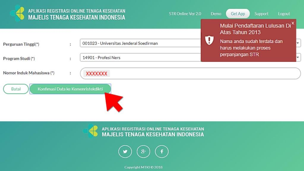 Konfirmasi data ke Kemenristekdikti