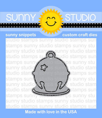 "Sunny Studio Stamps: Silver Bells 1-1/8"" Jingle Bell Steel Rule Die"