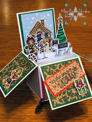 Gingerbread Village stamp set magazine freebie