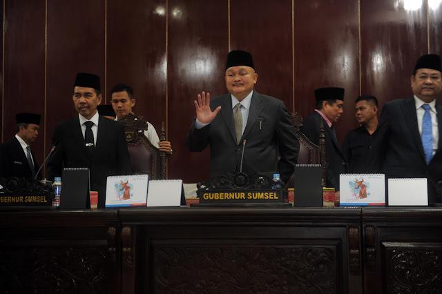 Gubernur Sumsel Simak Sumbang Saran Pemikiran Fraksi-Fraksi DPRD Sumsel