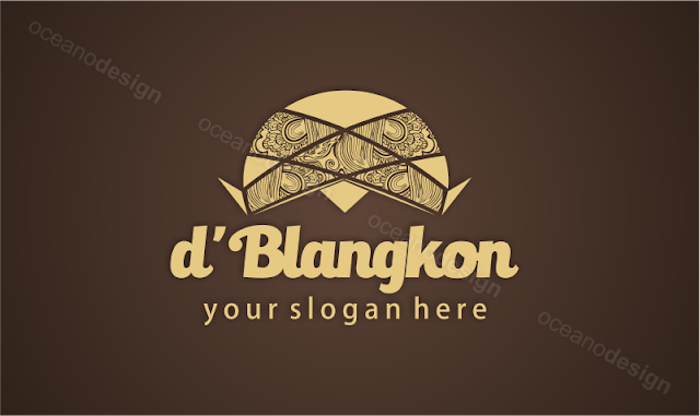 Desain logo d'blangkon