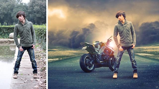 درس تغيير الخلفية وعمل تأثيرات فوتوشوب - Lesson change background and work effects Photoshop